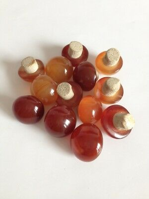 China old red yellow agate Snuff bottle lid Collection 1 pc