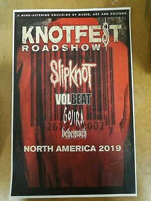 Slipknot 2019 11x17 promo tour concert poster knotfest tickets shirt cd volbeat
