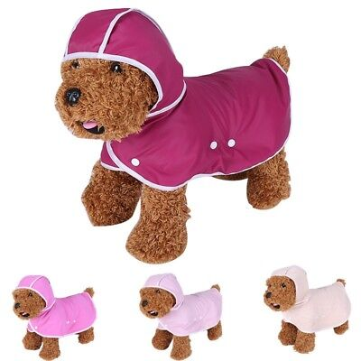 Dog Raincoat Puppy Cat Outdoor Rainwear Pet Waterproof Jacket Soft Hooded Poncho