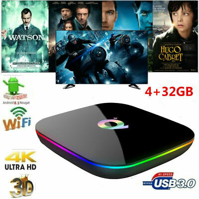 SMART TV BOX Q-PLUS ANDROID PIE 9.0 4GB RAM 32GB 6K Iptv dazn WIFI YA