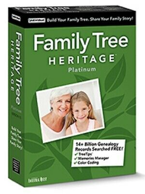 Family Tree Heritage Platinum 15 for PC - Digital Download