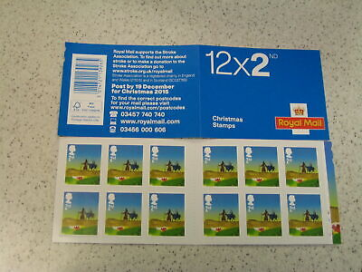 GB CYLINDER Barcode Booklet LX49 Christmas 2015 Second Class Booklet