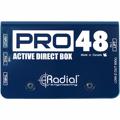 Radial PRO 48 Premium Active Direct Pro48 DI Box with -15dB Pad and Ground Lift