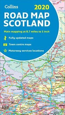 2020 Collins Map of Scotland by Collins Maps 9780008318741 | Brand New