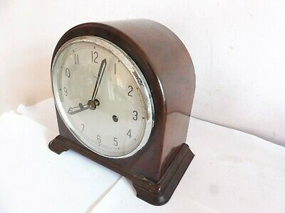 Antique    Smiths  Bakelite  Cased  Mantle  Chime Clock  Working