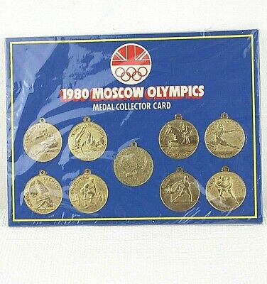 Moscow Olympics 1980 medal collectors card Complete Smiths thank you British 43