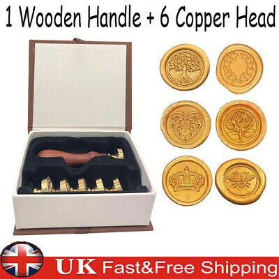 Wax Seal Stamp Kit Custom Made Gift For Envelopes And For Use w/ Sealing Wax Set