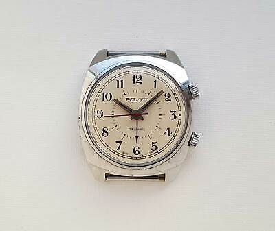 Vintage Soviet mechanical watch POLJOT ALARM USSR.1MChZ.