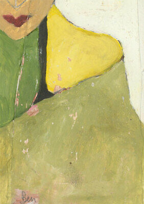 Ben Carrivick - Signed Contemporary Oil, Woman in The Green Cloak