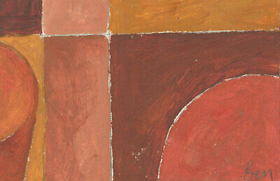 Ben Carrivick - Signed Contemporary Oil, Cubist Composition in Orange