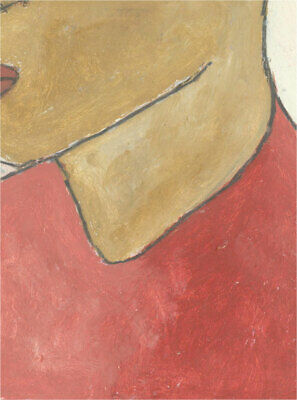 Ben Carrivick - Signed Contemporary Oil, Figure in Red