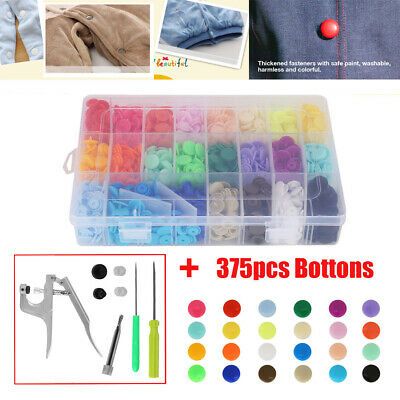 360 PAIRS T5 KAM Snaps Starter Poppers Plastic Buttons 12