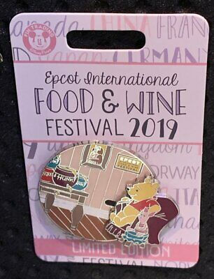 Disney Epcot Food & Wine Festival WINNIE POOH PIGLET Trading Pin Limited Edition