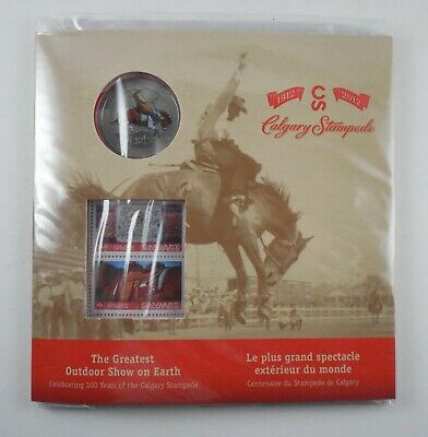 Canada -The Greatest Outdoor Show on Earth -Calgary Stampede -Coin & Stamp Comm.