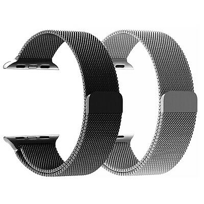 For Apple Watch Band Series 5/4/3/2/1 44mm 42mm 40mm 38 Milanese Stainless Steel