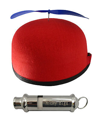 Nerdy Battery Operated Propeller Hat Helicopter Beanie Train Whistle Accessories