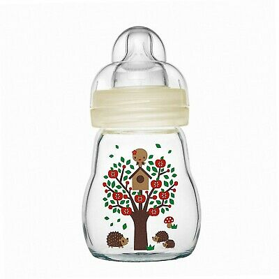 MAM 67037420 - Feel Good Glass Bottle 170 ml, Glasflasche, Neutral