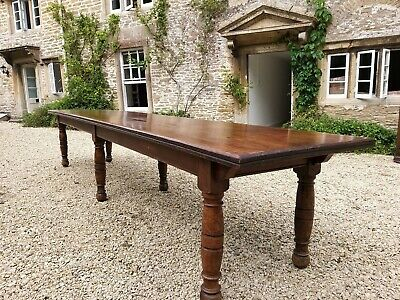 12.5 foot Long Antique Refectory Table by Trapnell & Gane