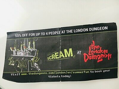 The London Dungeon voucher - 50% off for up to 4 people valid until May 31 2020