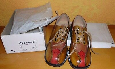 Fixed Children Low Shoes Size 34 Leather 1970er Top Quality Struwweli