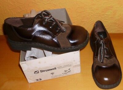 Very Stable Children Low Shoes Size 33 Leather 1970s Top Quality Struwweli Braun
