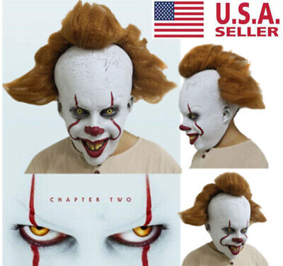 2019 Stephen Kings IT: Chapter Two Pennywise Clown Cosplay Mask Halloween Props