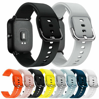 DI- 20mm Silicone Smartwatch Band Bracelet Strap for Amazfit Samsung Active Late