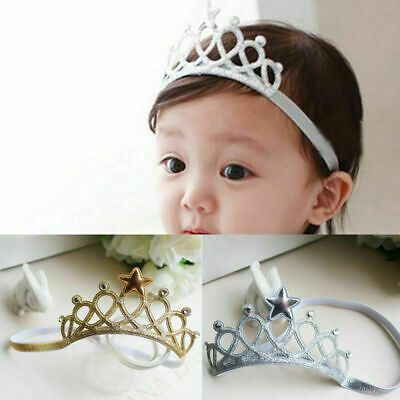 Baby Toddler Kids Girl Infant Hair Accessory Princess Hairba Crown Headband T7P0