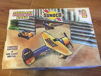 SUNOCO #1 Travel Air Model R Airplane Collector  Bank SPEC CAST