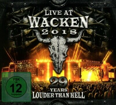 Live At Wacken 2018:29 Years Louder Than Hell Digipak 3 Cd+Dvd New!