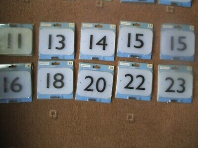 HOMEBASE ~ 10 x  ACRYLIC NUMBER  Numbers 11,13,14,15,16,18,20,22  New Old Stock