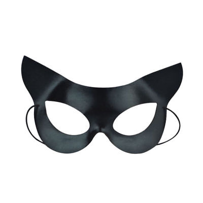 Black Mask Sexy Mysterious Catwoman Mask for Halloween Fancy Dress Costume Party
