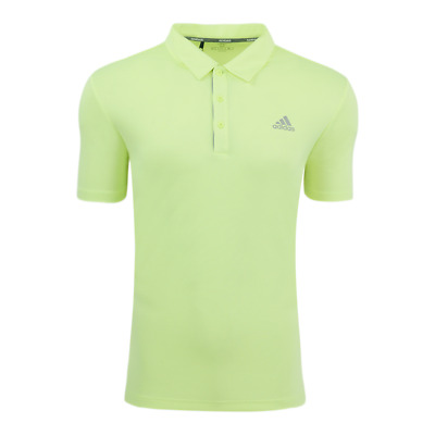 adidas Men's Drive Novelty Solid Polo Hi-Res Yellow/Grey Two S