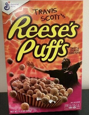 Travis Scott x Reese's Puffs cereal SOLD OUT - Look Mom I Can Fly