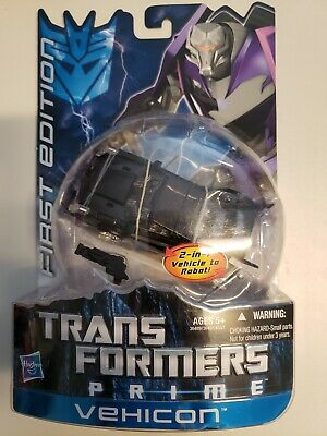 VEHICON Transformers Prime Animated Series First Edition Deluxe Figure #6 2011
