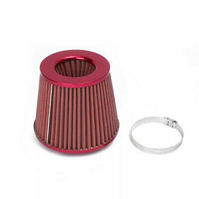 Vehicle Parts & Accessories Universal Red Finish Car Air Filter Induction Kit High Power Sports Mesh Cone QQ Car Tuning & Styling