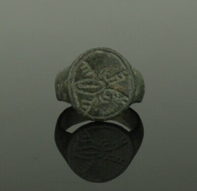 ANCIENT MEDIEVAL BRONZE RING - CIRCA 14th/15th CENTURY AD    022