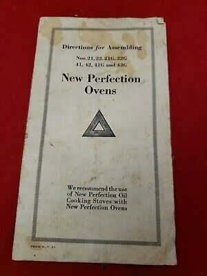 Vintage New Perfection Ovens Directions for Assembling Antique booklet ephemera