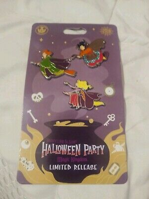 Disney 2019 Not So Scary Halloween Party Hocus Pocus 3 Pin Set Limited NEW CUTE