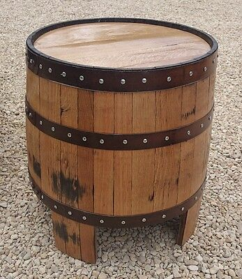 "Recycled Solid Wooden Oak Whisky Barrel ""NESSIE"" Garden Coffee Table"