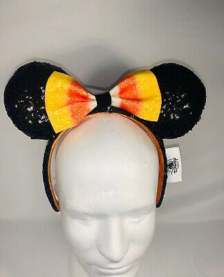 Disney Parks Exclusive 2019 Halloween Minnie Mouse Headband with Candy Corn Bow
