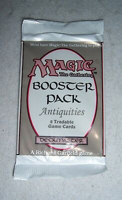 Mtg Magic Antiquities Booster Pack Factory Sealed English 8 Card Pack