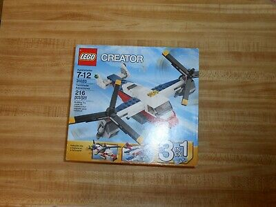 Plane // Helicopter Lego Creator 31020 Twinblade Adventures 3 in 1 Retired Set