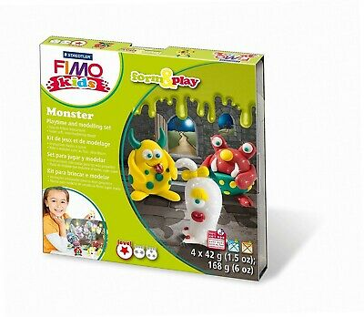 Staedtler 8034 11 LY Fimo kids form&play Set Monster (superweiche,...