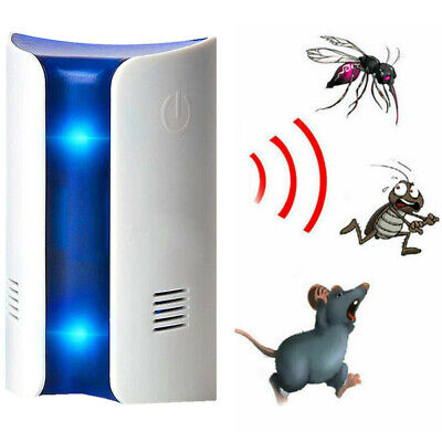 Pest Reject Ultrasound Anti Insect Mosquito Mouse Rat Cockroach Repellent White