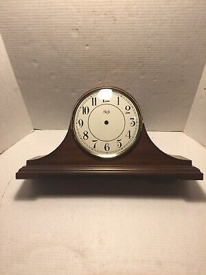 SLIGH Humpback Mantel Clock Wooden Case Face Glass ONLY - Parts Repair VERY NICE