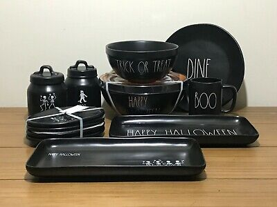 """Rae Dunn Halloween Mugs Canisters Plates Serving Platters """"YOU CHOOSE"""" NEW '19"""