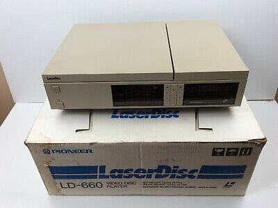 Pioneer Laser Disc LD-660 Video Disc Player w/ Box 1983 LaserDisc No Remote