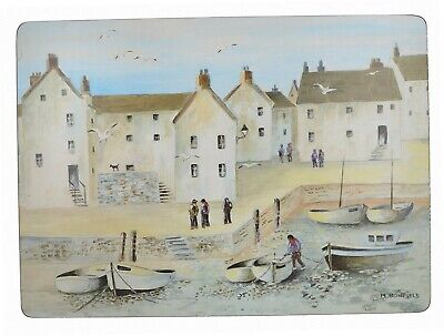 """Creative Tops """"Cornish Harbour Traditional Cork-Backed Tischsets, 4Stück"""