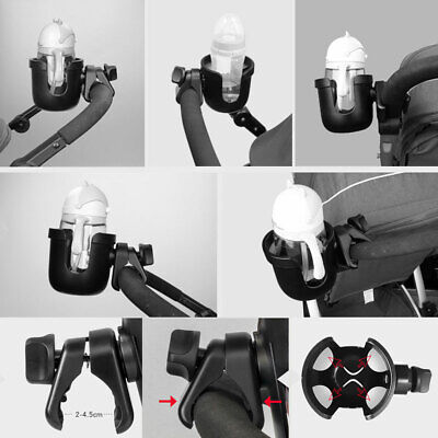 Stroller Cup Holder for Wheelchair Baby Kids Pram Cup Rack Steady ABS+Rubber